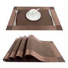 Top Finel 4pcs/lot PVC Decorative Vinyl Placemats for Dining Table Runner Linen Place Mat in Kitchen Accessories Cup Coaster Pad(China)