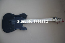 Hot sale factory custom black body electric guitar with 2 humbucking pickups,black pickguard,can be cusomized as your request