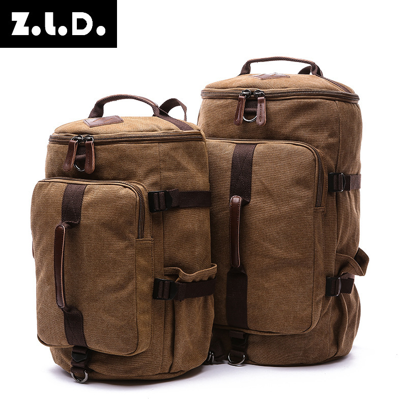 M128 High Capacity Travel Bag New Arrival Couples Cylinder package Multifunction Rusksack Male Fashion Backpack Drop Shipping<br>