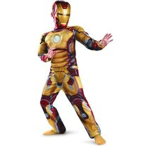 CaGiPlay Christmas costumes for kids boys coton muscle iron man costume kids halloween Cosplay Carnival costumes for children