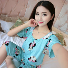 2017 Cotton Flower Womens Pajama Sets Autumn Shorts Breathe And Comfortable Homewear Soft M L XL XXL Home Suit Ladies pajamas