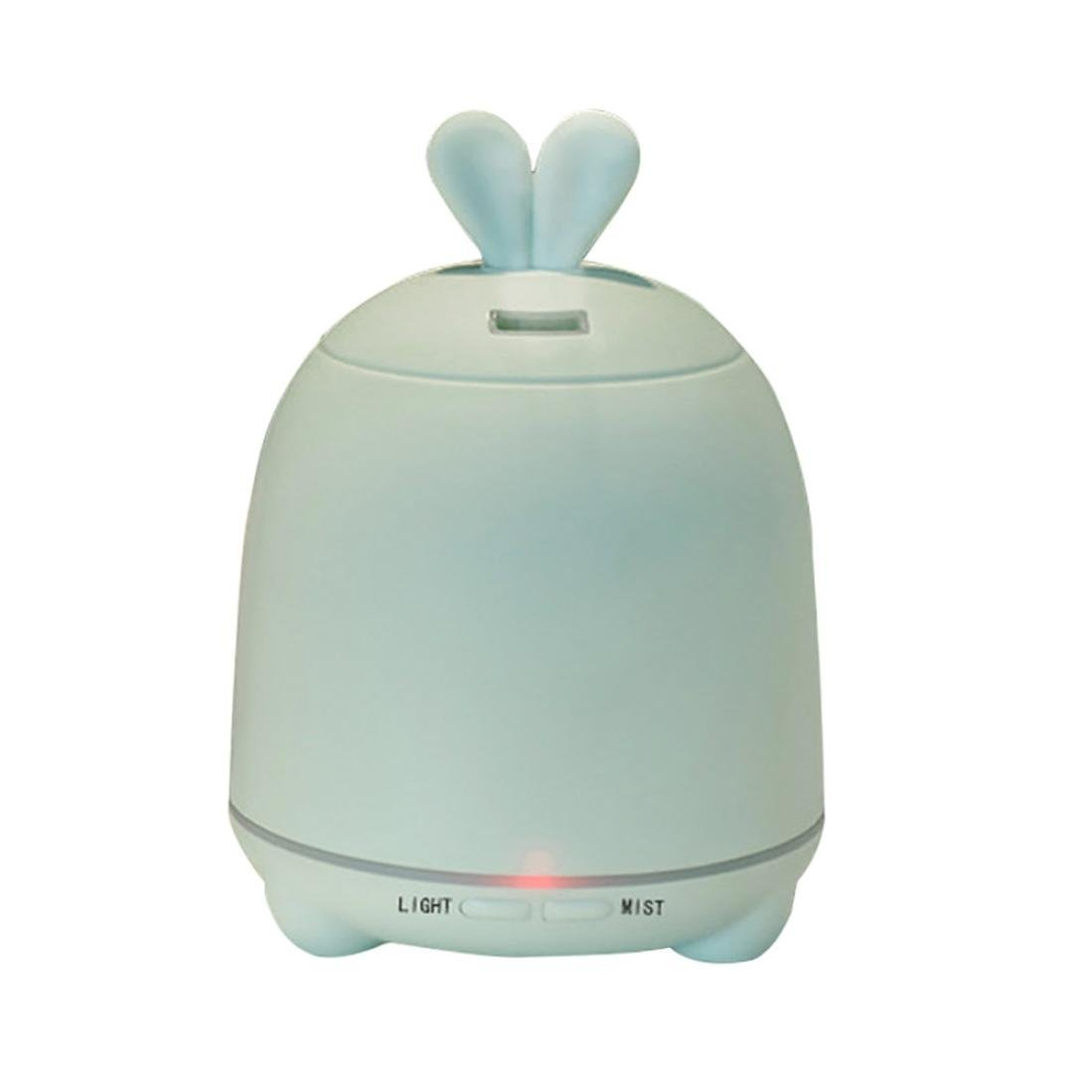 Essential Oil Diffuser -Rabit Adorable 100ML Ultrasonic Cool Mist Humidifier with 7 Color Light Changing For home bedroom Office<br>