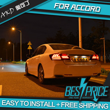 AKD Car Styling for Honda Accord 2014 TAIL Lights LED Tail Light LED Rear Lamp DRL+Brake+ Signal Whole set Taillight assembly