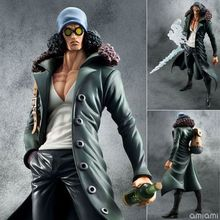 Action Figure one piece POP Kuzan model onepiece PVC anime 27.5cm Toys green army Japanese Anime Collectible Model