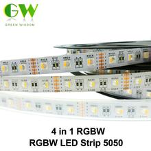 4 in 1 RGBW LED Strip 5050 DC12V Flexible LED Light RGB+White / RGB+Warm White 4 color in 1 LED Chip 60 LED/m 5m/lot.(China)