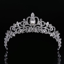 High Quality Snow Queen Crown Sweet Wedding Headpiece Trendy Hairwear Zinc Alloy Wedding Hair Accessories CY161117-143(China)