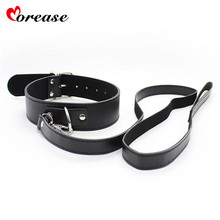 Buy Leather Harness Sex Slave Bondage Collar leash Neck Dog Collar Fetsih Erotic BDSM Sex Adult Games Toys Couples Woman Men