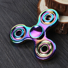 Buy Rainbow Tri Metal Figet Spinner Bearing Torqbar Finger Gyro Kids Adults Focus Toys Colorful Aluminium Alloy Hand Fidget Spinner for $3.78 in AliExpress store