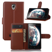 Leather Case for Lenovo A 2010 Flip Stand Design Phone Back Cover Wallet with Card Slot Book Style Black Brown White(China)
