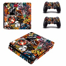 Buy Graffiti Star Wars Decal PS4 Slim Skin Sticker Sony PlayStation 4 Console 2 Controllers PS4 Slim Skins Sticker Vinyl for $8.45 in AliExpress store