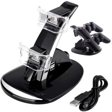 PS3 Accessories Dualshock 3 Charging Station Joystick PS3 Dual LED Charger Dock for SONY PlayStation 3 Controller Charger Stand