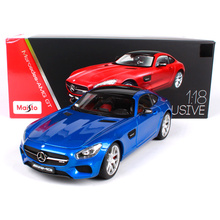Maisto 1:18 MB AMG GT Sports Car Hardback Diecast Model Car Toy New In Box Free Shipping 38131