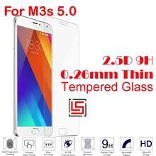 0.26mm 2.5D 9H Hardness Tempered Glass Cristal Phone Mobile Cell Front Film Screen Protector Guard For Meizu Meizy M3s 5.0