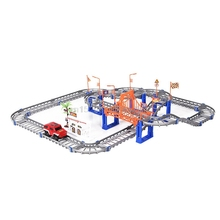 Two-layer Spiral Track Roller Coaster Toy Electric Rail Car for Kids Child Gift Hot Wheels Brinquedos Brinquedo Menino(China)