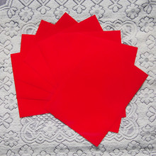 (A4*8pcs) Red Color Only PU Flex Vinyl Paper High Quality PU Heat Transfer Vinyl PU Film for T-shirts Iron on Vinyl Paper R607