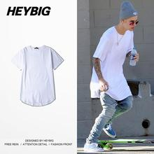2016 New Arrival Men Latest Design Skateboard Arc Hem T-shirts Fashion Solid Bottoming Clothing Cotton Top Tee China Size M-2XL