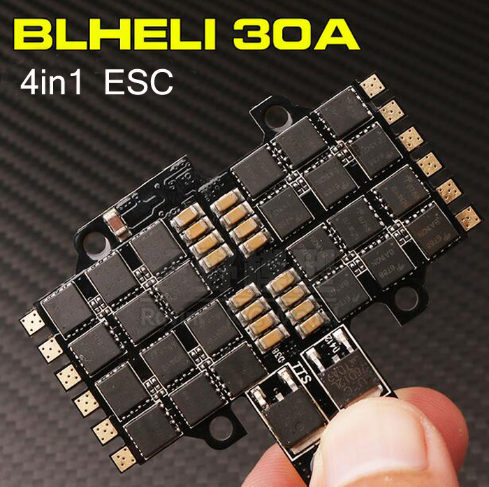 4 In 1 brushless BLHeli 30A ESC for RC model airplane parts quadcopter drone accessories support 2-4S Lipo battery<br>