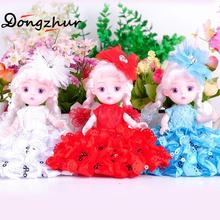 Dongzhur Colorful 3D Simulation Eyes Dolls Girls' Birthday Gift Car Decoration car Ornament Beautiful Princess Rotatable Joints(China)