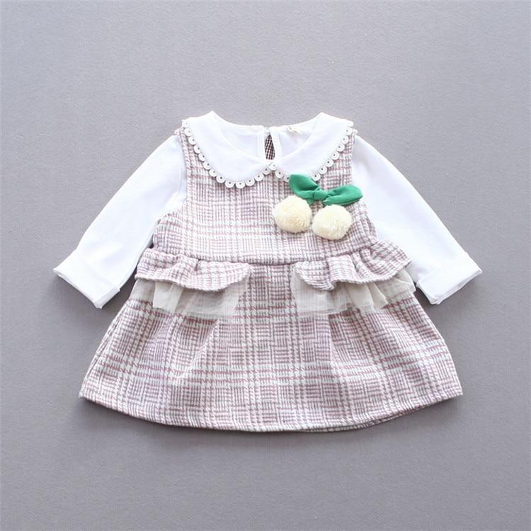 2pcs/set 2017 Spring Cotton Baby Girl Skirt Set For Babies Kids Skirt Clothes Suit Infant Set Baby Skirt YD128<br><br>Aliexpress