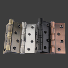 "6PCS High Quality 4""x3"" Stainless Steel Thickness 3mm Ball Bearing Brushed Door Hinges+Screws 4 Colors for choose"