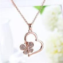 Wholesale fashion jewelry fashion jewelry, green roses heart pendant necklace N504