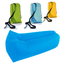 Fast Inflatable Air Sofa Camping Banana Air Sleeping Bag Hangout Lazy Laybag Inflatable Air Bed Chair Portable Couch
