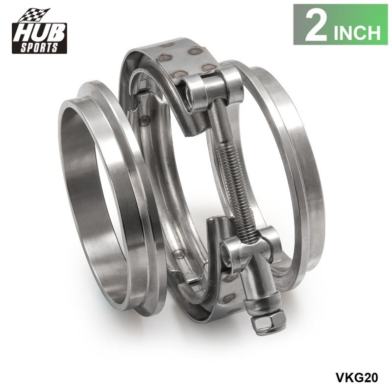 """Universal Upgraded 2.0"""" V-band clamp fit all style exhaust system HU-VKG20"""