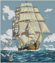Top Quality Beautiful Lovely Counted Cross Stitch Kit Clipper Ship Voyage Vessel Boat Sea Ocean dim 03886(China)