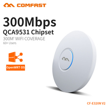 COMFAST 300Mbps Wireless Access Point Ceiling AP WIFI Router WIFI Repeater WIFI Extender For Office Support OpenWRT VLAN 48v PoE(China)