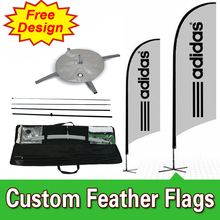 Free Design Free Shipping Single Sided Feather Flags Banner Cross Base Competitive Outdoor Sail Banners Outdoor Feather Banners(China)