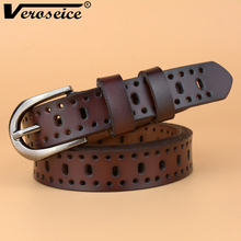 [Veroseice] New Cute Women Belt Cow Leather Classic Design Lady Waistband Genuine Leather Brand New Belts for Women High Quality(China)