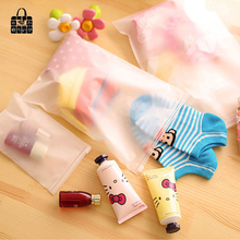 7pcs/sets Transparent waterproof Clothes socks/underwear bra shoes storage bag travel Wash protect cosmetics plastic storage bag