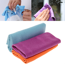 3Pcs Water Absorbable Glass Kitchen Cleaning Cloth Wipes Table Window 30 * 40CM
