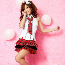 Buy Sexy School Girl Costume Erotic Role playing Uniform Temptation Japan Student Outfit Fetish Sexy Lingerie nightgown LB