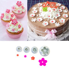 Christmas Kitchen Plum Flower Plunger Fondant Cookie Decorating Tools cake decorating fondant cutters tools