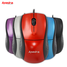 New Wired Computer Mouse Ergonomics Simple Portable LED Optical Mouse Mice for PC Laptop Notebook Home Office Accessories 5Color(China)