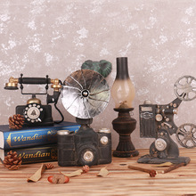 Vintage Style Old-fashioned Projector Resin Artificial Film Player Telephone Camera Oil Lamp Retro Home Office Decoration(China)