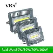 2017 New LED Flood Light 30W 50W 70W 100W LED Outdoor Lighting AC85-265V IP66 Waterproof LED Floodlight Reflector LED COB Chip(China)