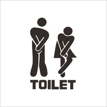 Hot Explosion Models Wholesale Waterproof Bathroom Toilet Wall- Stickers Removable