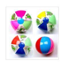 CCINEE 4PCs 28CM Kids Beach Balls Children Rubber Playable Safe Soft Inflatable Toys Cute Dolphin Pool Play Colorful Toy Balls