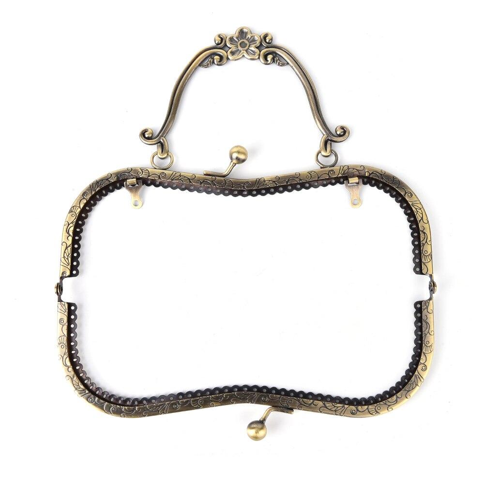 8.5cm Bronze Cat Head Purse Frame Handle Kiss Clasp DIY Bag Clutch Accessory S/&K
