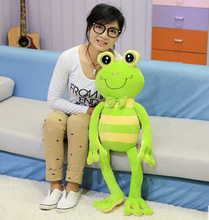 70-90cm Cartoon stripe frog plush toy multicolour frog cloth doll Large frog pillow kids toys female Children birthday gift