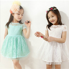 Girls summer casual lace dress toddler girl clothing Children's wedding dress Girls Princess Dress baby girl 6-8-14 age clothes
