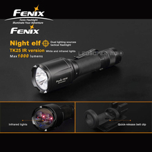 New Arrival Fenix TK25 IR Version 1000 Lumens Dual Lighting Sources Tactical Flashlight with White and Infrared Light