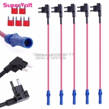 5Pcs MINI ATM Fuse Tap Adapter Circuit Wire Holder Electronic Device Car Autoc -Y121 Best Quality