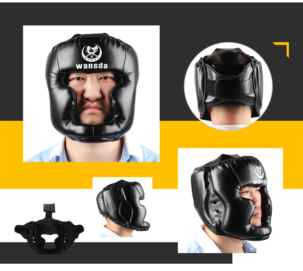 Wansda WSD - 2005 Boxing Protection Headgear Head Guard Kick Training Helmet