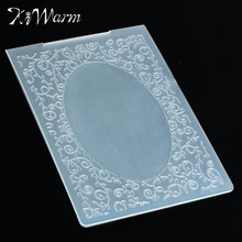 Leaves Oval Frame Plastic Embossing Folder Stamps Template Stencil For Scrapbook Photo Album Paper Cards Hand Account Decor