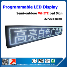 White semi-outdoor led advertising screen led moving message advertising led module p10 led display board 40*232cm