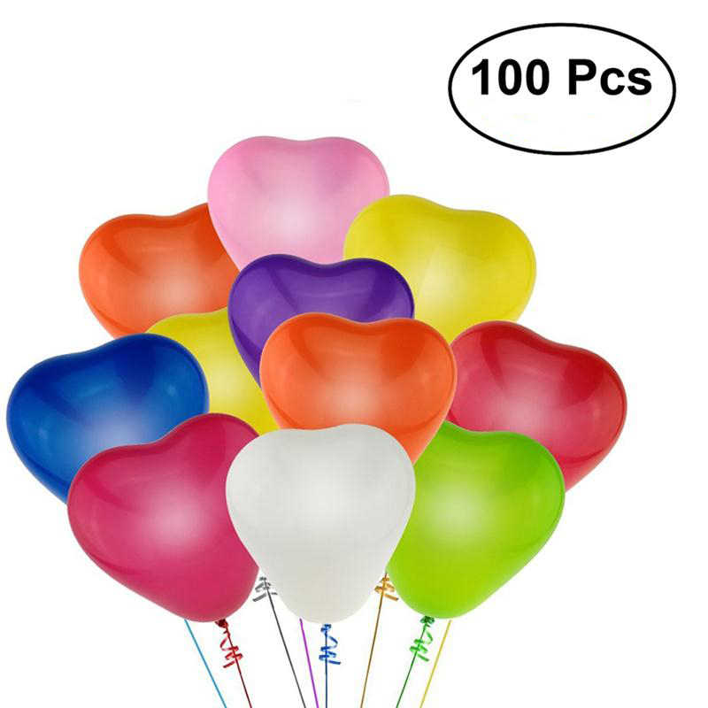 100pcs 13inch Heart Latex Balloons Party Wedding Birthday Decoration Baby Shower Shpplies Children Toy Gifts(Mixed Color)