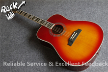 Upgraded Design Abalone Binding Hummingbird Acoustic Guitar CS Cherry Sunburst Color In Stock For Sale